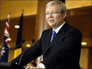 K Rudd MP at the UN
