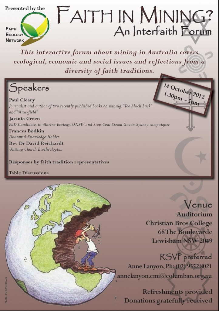 Interfaith forum on mining 2012